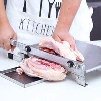 Haushalt Meat Slicer Maschine Gefrorenes Fleisch-Knochen-Schneidemaschine für Gewerbe Edelstahl Huhn Ente Fisch Lammkoteletts Cutter
