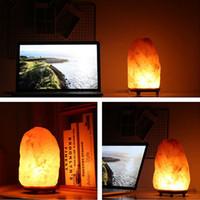 Новейшая гималайская соленая лампа натуральный ионный порошок Кристалл соли света диммер очистителя воздуха с диммерным переключателем AC 85-260V