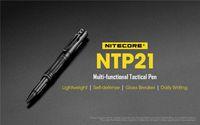 Penna tattica multifunzione NITECORE NTP21 Pen in lega di alluminio con testa in acciaio al tungsteno per vetro breaker scrittura autodifesa