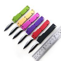 """5.1 """"CNC de aluminio de la manija 440 de la hoja mini cuchillo automático con un cuchillo cuchillo clips clave portátil de bolsillo al aire libre del envío EDC"""
