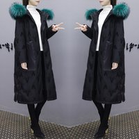 High grade New winter black embroidered Parka Down coat jack...