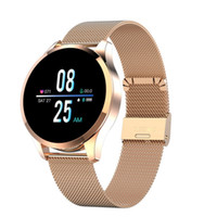 Bluetooth Q9 intelligente Guarda SMS impermeabile chiamata di promemoria Smartwatch Uomini Heart Rate Monitor Donne Fitness Tracker Android IOS