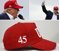 Bandera de EE. UU. Nueva gorra Sombrero de béisbol de algodón Gorra 45 Presidente Donald Trump Apoyo Sombrero de béisbol Unisex Ajustable Novedad Gorras