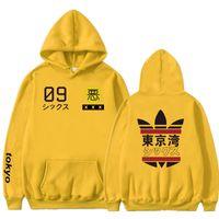 2019 neue Männer Frauen Hoodies Harajuku Frühling Sweatshirts Tokyo Bucht Hoodies Outwear Mode Gummi Pulver Hip-Hop Jungen Kleidung MX191115
