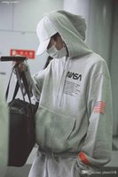 19FW Hip- hop Cotton Loose American Flag, Leisure, Long Sleev...