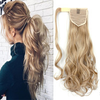 Wavy Clip In Hair Tail False Hair Ponytail Hairpiece With Hairpins 100g Synthetic Hair Pony Tail Extensions