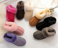 2020 femmes hommes classique pantoufles chaudes en coton pantoufles de mode hommes et femmes bottes courtes bottes femmes bottes de neige pantoufles en coton us4-14