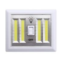 Portátil Night Light LED a pilhas 4 COB painéis de LED manual de interruptor de luz Indoor Luz Monte em armários do quarto Cabinet Shelf
