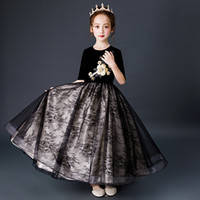 Children' s princess wedding dress girl' s piano per...