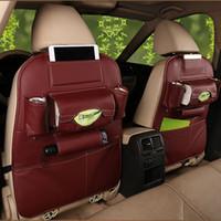 Capas de assento de carro PU Forstorage Bag Renault Logan Lada Vesta Praio Fiat Punto Linea Ford Focus 2 3 4 5 Auto Acessórios Car-Styling