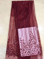 Latest French Nigerian Laces Fabrics High Quality Tulle Afri...