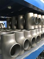 Té coudé de raccord de tube forgé en titane ASTM B363 GR1 GR2 GR5 Gr7 Gr9 DN Réducteur en titane Té de tuyau de 2 pouces métrique galvanisé