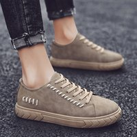 new Fashion Solid Lace- Up Canvas Shoes Casual Round Toe Boar...