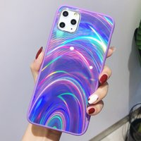 Модный призматический лазерный чехол для iPhone 11 Pro XR XS Max Cases 3D Rainbow Glitter Phone Cover for iPhone SE 2020 7 8 6S
