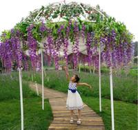 꽃 식물 덩굴 홈 웨딩 파티 이벤트 장식을 매달려 110cm 인공 실크 등나무 가짜 정원