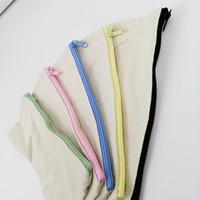 Lápis em branco Lápis Lápis Capas Capas de Caneta Algodão Sacos Cosméticos Makeup Bags Saco de Embreagem Do Telefone Móvel