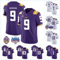 9 조 Burrow LSU 타이거스 125 시즌 4 Nick Brossette 2 저스틴 제퍼슨 7 Leonard Fournette 17 Racey Mcmath NCAA College Football Jersey