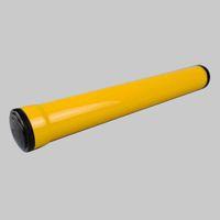 시가 튜브를 흡연 코 히바 노란색 스테인레스 스틸 시가 튜브 여행 홀더 가습기 휴대용 담배 액세서리