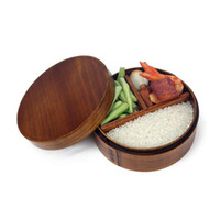 Japanese Bento Boxes Wooden lunch box Sushi Portable Contain...