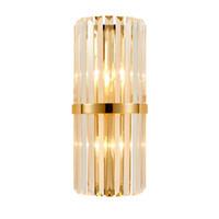 Moderne LED Cristal Applique Creative Design Or Décoration de La Maison Luminaire Chambre Couloir Couloir Applique Lampe