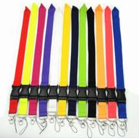 حار 12 الألوان فارغة الحبل المتاحة بطاقة الهوية رباط العنق لخلية سلاسل مفاتيح سلسلة الهاتف المحمول