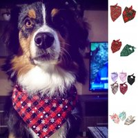 Dog Bandanas Cotton Plaid Dog Cat Neck Scarf Puppy Neckerchi...