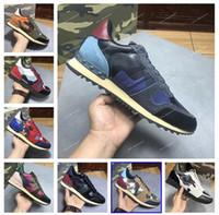 Neue Art und Weise Bolzen-Camouflage-Turnschuhe Schuhe Herren Damen Wohnungen Rockrunner Trainer beiläufige Schuh-Turnschuh chaussures