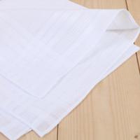 Tamaño grande 43 * 43 cm Cena blanca Pañuelo Paño de cocina puro Color puro Pequeño cuadrado de algodón Sudor Toalla Pañuelo sencillo DH0167