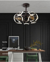 Elektrikli fan frekansı ile yemek odası avize Aydınlatma Nordic fan led ışıkları modern basit LED ultra-sessiz oturma odası yatak odası ışık