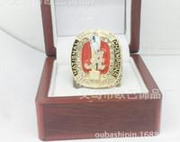 Sammlung heißen verkaufen2pcs / lots Alabama rote Flut Meister Rekord der Männer Ring 2017