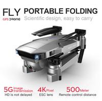 مهنة GPS الطائرة بدون طيار مع كاميرا 4K HD المزدوج زاوية واسعة المضادة للاهتزاز مزدوجة GPS WIFI FPV RC كوادكوبتر FoldableFollow عني 1PCS