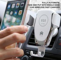 Q12 Funk-Kfz-Ladegerät 10W Schnelle Wireless-Ladegerät Auto-Halterung Air Vent Gravity-Telefon-Halter für Smartphone Samsung S8 S9 S10
