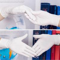 Schwarzweiß-Pack-Allergiker-Einweg-Nitril-Latexhandschuhe Labor optional Anti-Skid Anti-Säure-Grad-Gummi-Handschuh Reinigung Blau