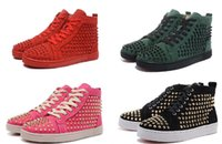 NEW 2019 Designer Sneakers Red Bottom shoe High help Suede s...