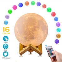 3D LED Night lamp Print Moon Lamp LED Magical Touch slap con...