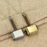 The 4 Mjolnir Hammer Collar colgante de aleación creativa The Thor Thor's Hammer Metal necklace