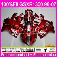 Einspritzung für SUZUKI Hayabusa GSXR1300 GSXR 1300 96 97 98 99 00 01 07 22HM.1 GSX R1300 1996 1997 1998 1999 2000 2001 dunkelrote Verkleidung