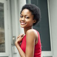Menschliches Haar Capless Perücken Menschenhaar-Spitze vorne Afro verworren Curly African American keiner Perücke Spitze maschinell hergestellte Perücke Frauen