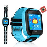 2019 Smart Watch Micro SIM Card Call Tracker Niño Cámara Posición anti-perdida Alarma Reloj inteligente para niños