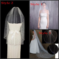 Cathedral   Fingertip Wedding Veils with Crystsal Rhinestone...