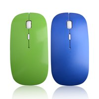 Ultrathin Wireless Mouse Mouse 2,4 GHz Computer Optical Gaming Mouse Laser con USB Ricevitore Mappa per laptop MacBook Mac Topi