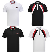 2018 Brand New Spring Summer pour les hommes polo t-shirts polo occasionnels polo broderie shirt asiatique taille M-3XL