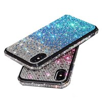 Iphone 12 Brillant TPU Bumpe étui de protection en Gradient scintillants étincelle Bling Coque Iphone 12 11 11 pro Xr X Max 8 7 6 plus
