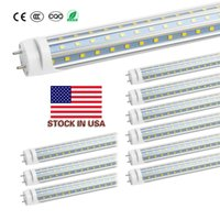 Stock in US + 4ft 1200mm T8 Led Tube Light High Super Bright 60W Warm Cold White Led Fluorescent Bulbs AC110-240V UL