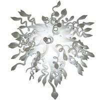 Moderne Pendelleuchten Hand Geblasenes Glas Kronleuchter Klassiker Weißer Kristall Kronleuchter LED Beleuchtung ODM Wohnkultur Licht Esszimmer Anhänger Lichter