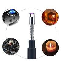 70 cm Stretch Flexible Elektrische USB-Feuerzeug Wiederaufladbare Zündung ARC BBQ-Feuerzeuge Schalter im Freien Winddichte Hals für Küchenwerkzeuge einstellbar