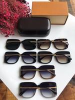 Marca de óculos de sol - nova moda 2019 moda óculos de sol para homens e mulheres Z1215 tamanho do quadro de folha 55-18-145