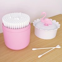 Flamingo Design Makeup organizer Cosmetic Storage Box with L...