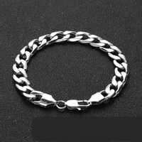 Fashion Personalized 11mm Chunky Mens Womens Stainless Steel...