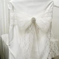 Décoration de mariage en dentelle rouleau 15cm x 22M Chemin de Table Chaise Sash Bouquet Lieu UA